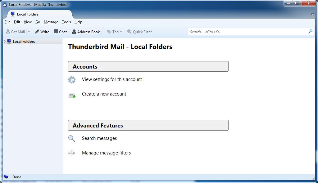 Cliente de correo Thunderbird